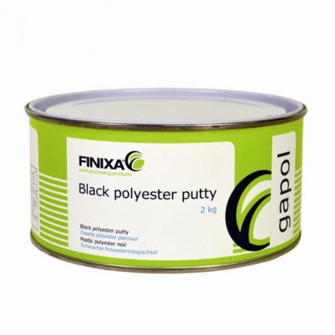 Gapol polyesterplamuur zwart 2kg. + verharder